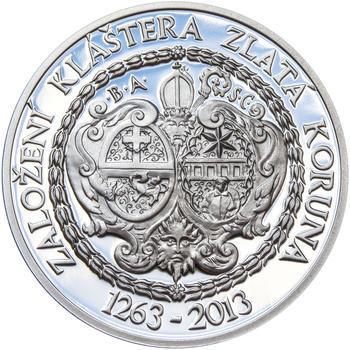 KLÁŠTER ZLATÁ KORUNA – návrhy mince 200,-Kč - sada tří Ag medailí 34mm Proof v etui - 6