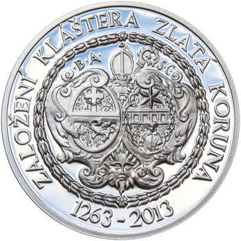 KLÁŠTER ZLATÁ KORUNA – návrhy mince 200 Kč - sada tří Ag medailí 34 mm Proof v etui - 6