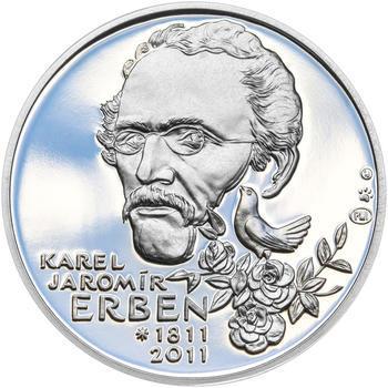 KAREL JAROMÍR ERBEN – návrhy mince 500 Kč - sada tří Ag medailí 34 mm Proof v etui - 6