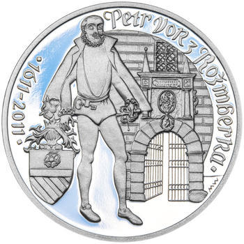 PETR VOK Z ROŽMBERKA – návrhy mince 200 Kč - sada tří Ag medailí 34 mm Proof v etui - 6