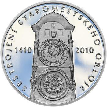 STAROMĚSTSKÝ ORLOJ – návrhy mince 200 Kč - sada tří Ag medailí 34 mm Proof v etui - 6