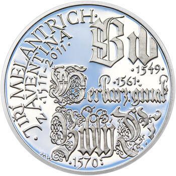 JIŘÍ MELANTRICH Z AVENTINA – návrhy mince 200 Kč - sada tří Ag medailí 34 mm Proof v etui - 6