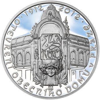OBECNÍ DŮM V PRAZE – návrhy mince 200 Kč - sada tří Ag medailí 34 mm Proof v etui - 6