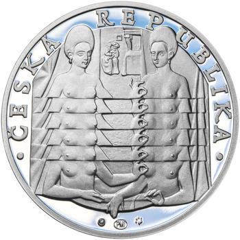JIŘÍ KOLÁŘ – návrhy mince 500,-Kč - sada tří Ag medailí 34mm Proof v etui - 7