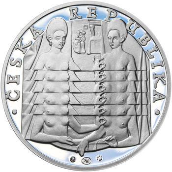 JIŘÍ KOLÁŘ – návrhy mince 500 Kč - sada tří Ag medailí 34 mm Proof v etui - 7
