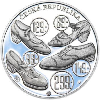 TOMÁŠ BAŤA ml. – návrhy mince 200 Kč - sada tří Ag medailí 34 mm Proof v etui - 7