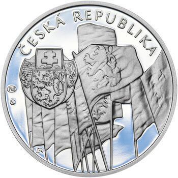 ZAL. ČESKOSLOVENSKÝCH LEGIÍ – návrhy mince 200 Kč - sada tří Ag medailí 34 mm Proof v etui - 7