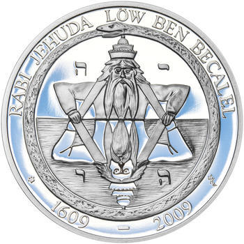 RABÍ JEHUDA LÖW – návrhy mince 200,-Kč - sada I. tří Ag medailí 34mm Proof v etui - 7