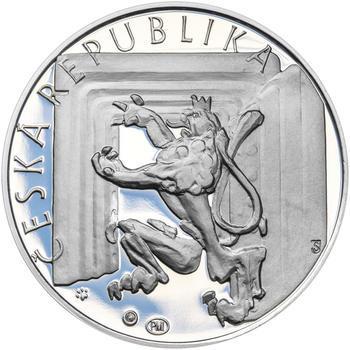 20 LET ČNB A ČESKÉ MĚNY – návrhy mince 200,-Kč - sada tří Ag medailí 34mm Proof v etui - 7