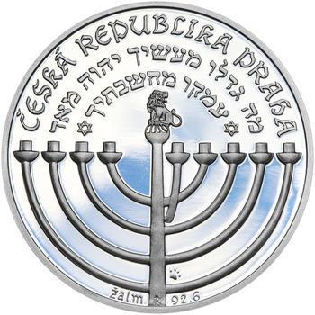 RABÍ JEHUDA LÖW – návrhy mince 200 Kč - sada II. tří Ag medailí 34 mm Proof v etui - 7