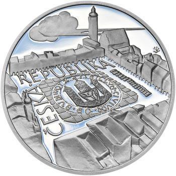 ČESKÉ BUDĚJOVICE – návrhy mince 200,-Kč - sada tří Ag medailí 34mm Proof v etui - 7