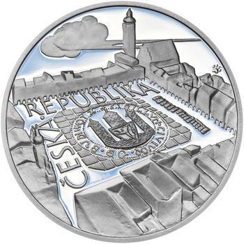 ČESKÉ BUDĚJOVICE – návrhy mince 200 Kč - sada tří Ag medailí 34 mm Proof v etui - 7
