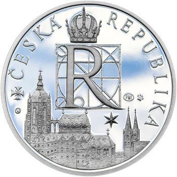 RUDOLF II. – návrhy mince 200,-Kč - sada tří Ag medailí 34mm Proof v etui - 7