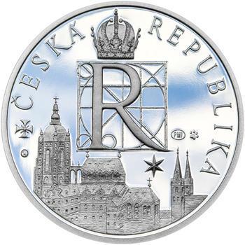 RUDOLF II. – návrhy mince 200 Kč - sada tří Ag medailí 34 mm Proof v etui - 7