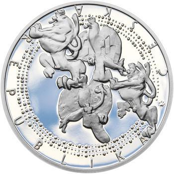 ALOYS KLAR – návrhy mince 200,-Kč - sada tří Ag medailí 34mm Proof v etui - 7