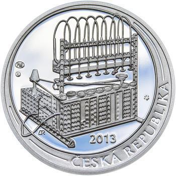 OTTO WICHTERLE – návrhy mince 200,-Kč - sada tří Ag medailí 34mm Proof v etui - 7