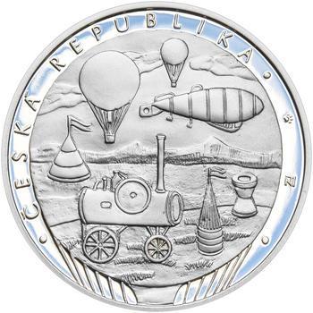 KAMIL LHOTÁK – návrhy mince 200 Kč - sada tří Ag medailí 34 mm Proof v etui - 7