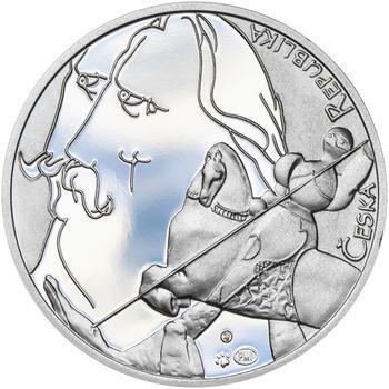 JIŘÍ TRNKA – návrhy mince 500 Kč - sada tří Ag medailí 34 mm Proof v etui - 7