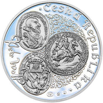 PETR VOK Z ROŽMBERKA – návrhy mince 200 Kč - sada tří Ag medailí 34 mm Proof v etui - 7