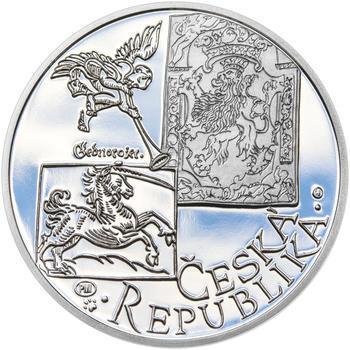 JIŘÍ MELANTRICH Z AVENTINA – návrhy mince 200,-Kč - sada tří Ag medailí 34mm Proof v etui - 7