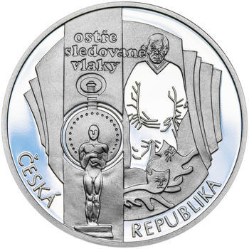 BOHUMIL HRABAL – návrhy mince 200 Kč - sada tří stříbrných medailí 34 mm Proof v etui - 7